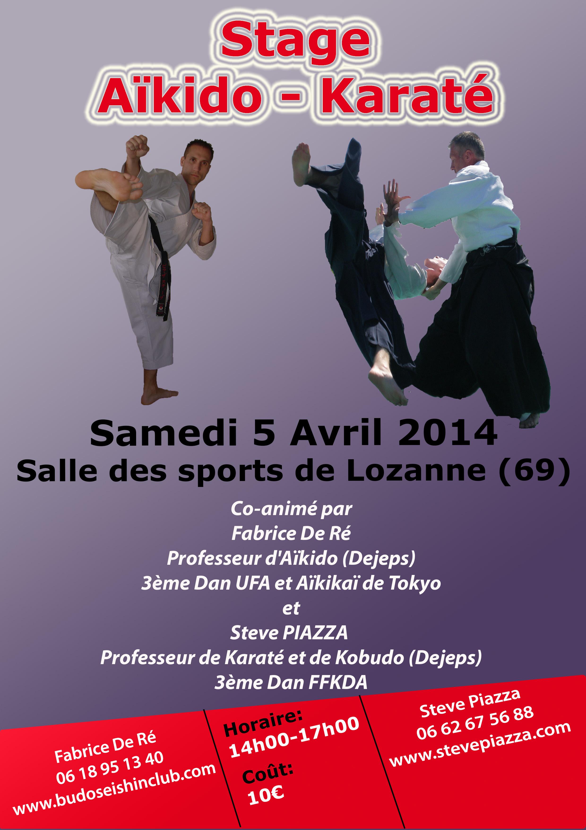 Stage Aïkido-Karaté le samedi 5 avril 2014