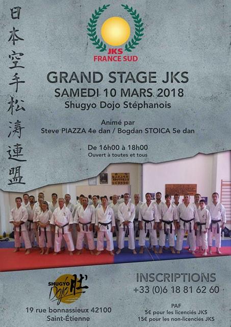 Stage Karaté Jks France Sud 10 Mars 2018