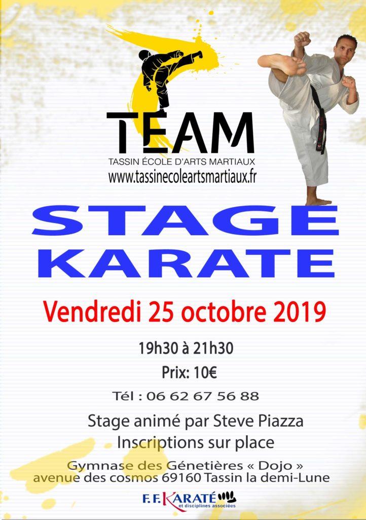 Stage Karaté Tassin
