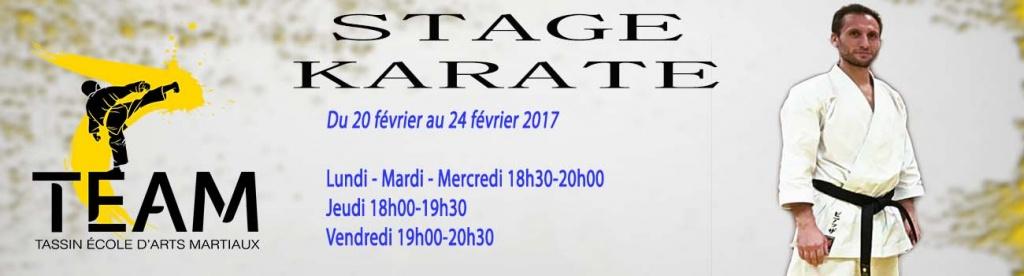 Stage Karaté Février