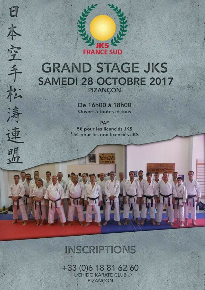 Stage Jks France Sud 28 Octobre 2017