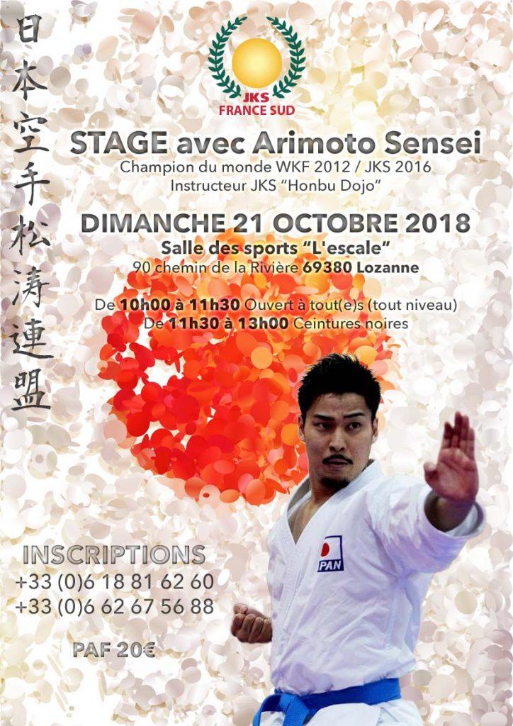 Stage JKS Arimoto Senseï le dimanche 21 Octobre 2018