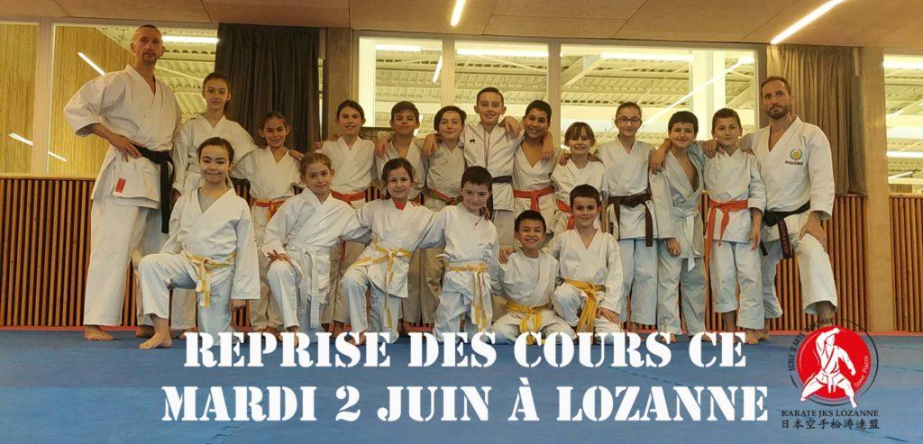 Reprise des cours Karaté à Lozanne